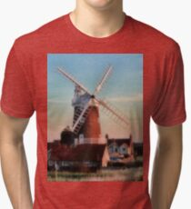Cley windmill Norfolk Tri-blend T-Shirt