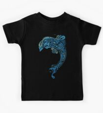 Blue dolphin - unique sea artwork   Kids Clothes