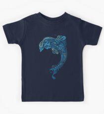 Blue dolphin - unique sea artwork   Kids Clothes