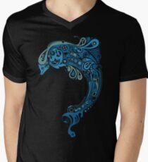 Blue dolphin - unique sea artwork   Men's V-Neck T-Shirt
