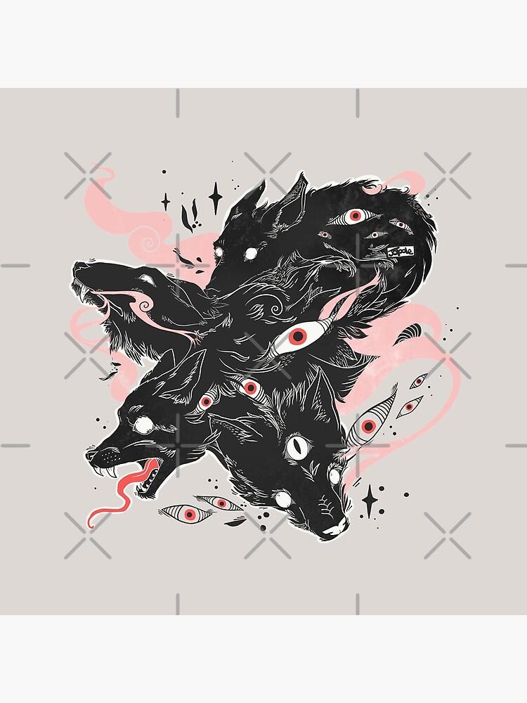 Wilde Wölfe mit vielen Augen von cellsdividing