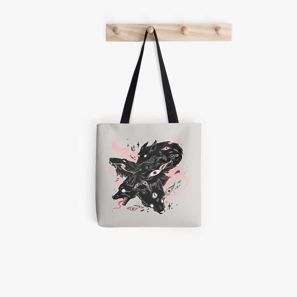 Wild Wolves With Many Eyes Tote Bag