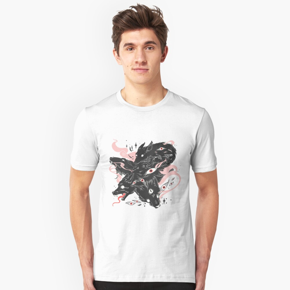 Wild Wolves With Many Eyes Slim Fit T-Shirt