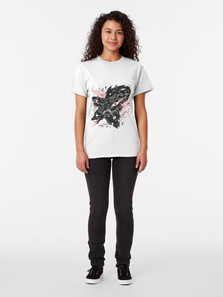 Alternate view of Wild Wolves With Many Eyes Classic T-Shirt