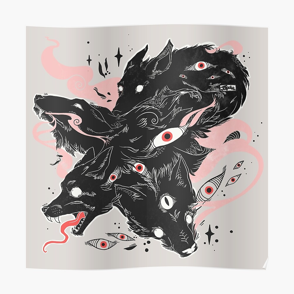 Wild Wolves With Many Eyes Poster