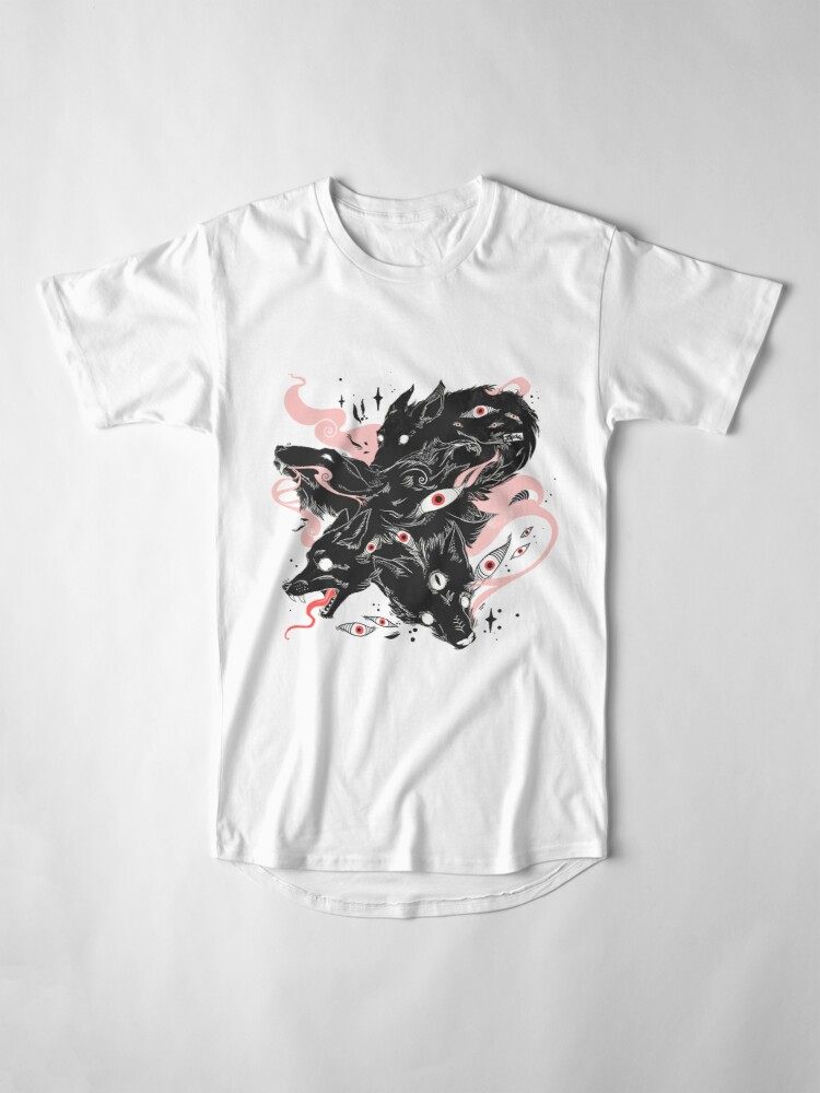 Alternate view of Wild Wolves With Many Eyes Long T-Shirt