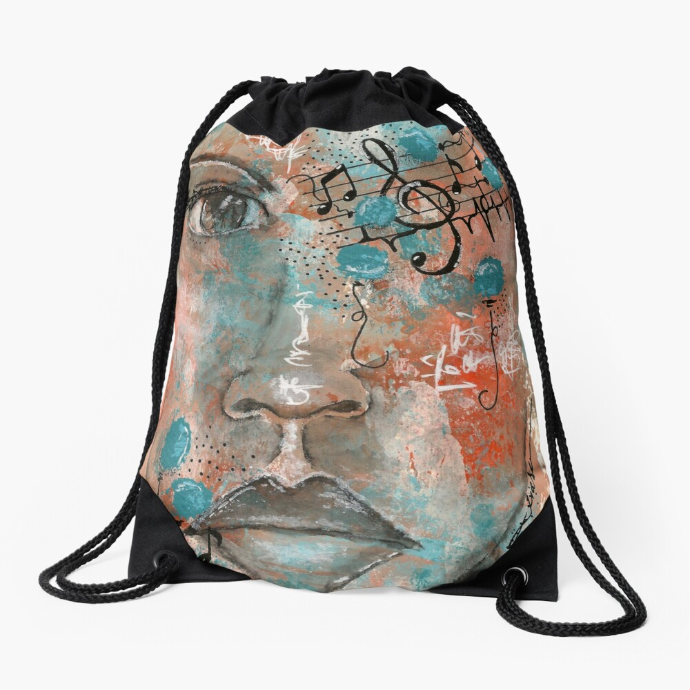 Come Thru 4 Drawstring Bag Front