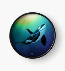 "Reloj ""The Dreamer Ascends"", del artista Amber Marine ~ (Copyright 2015) ~ Orca Art / Killer Whale Digital Painting"