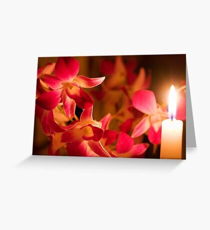 Orchids by Candlelight Greeting Card