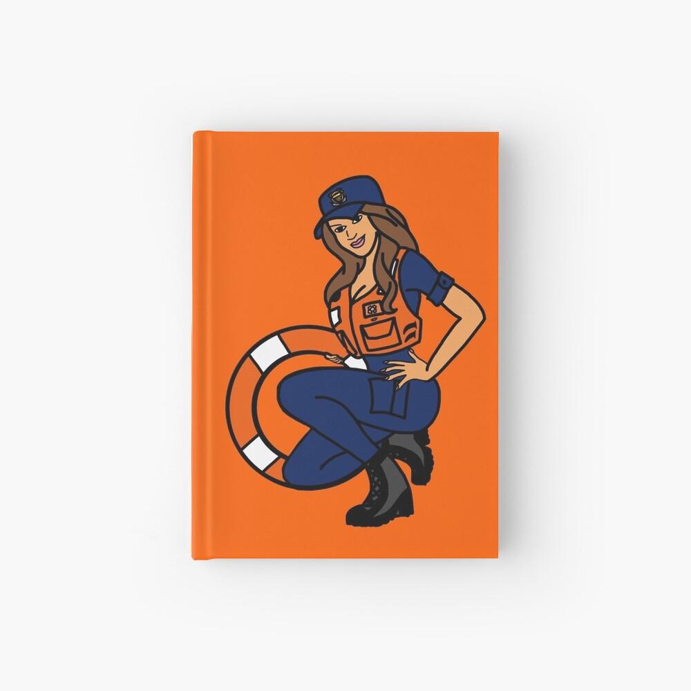 Coast Guard Lifering Pinup Hardcover Journal