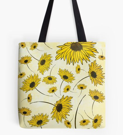 Yellow florals Tote Bag