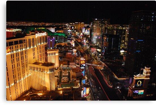 The Strip - Las Vegas Skyline by Roxanne Persson