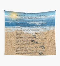 Footprints in the Sand Wall Tapestry