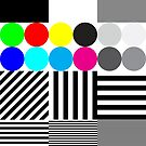 "Large Print Size Clothing 14 x 19 / 15.6x19.6""/ Default Kornit Standard Pallet (396mm x 497mm) by Redbubble Test Pattern"