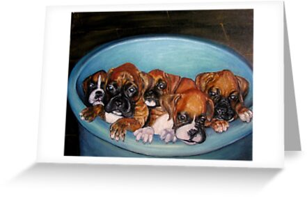 Funny Puppies oil painting by Natalja Picugina