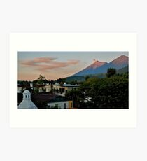 Volcan Art Print