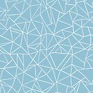 Abstraction Outline Sky Blue by ProjectM