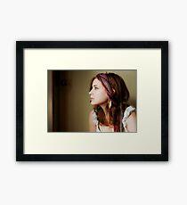 Self Portrait With Gypsy Scarf II Framed Print