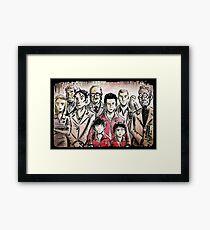 The Royal Tenenbaums, Art, Director, Wes Anderson, Illustration, Drawing,  luke wilson, ben stiller, movie, home, margot, richie, tenenbaum,  Gene Hackman, Gwyneth Paltrow, Anjelica Huston Framed Print