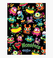 I LOVE MONSTERS Photographic Print
