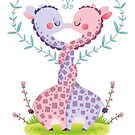giraffe pink kiss by Angela Sbandelli
