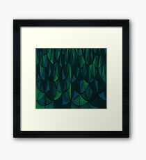 Geometric Sea Scales Framed Print