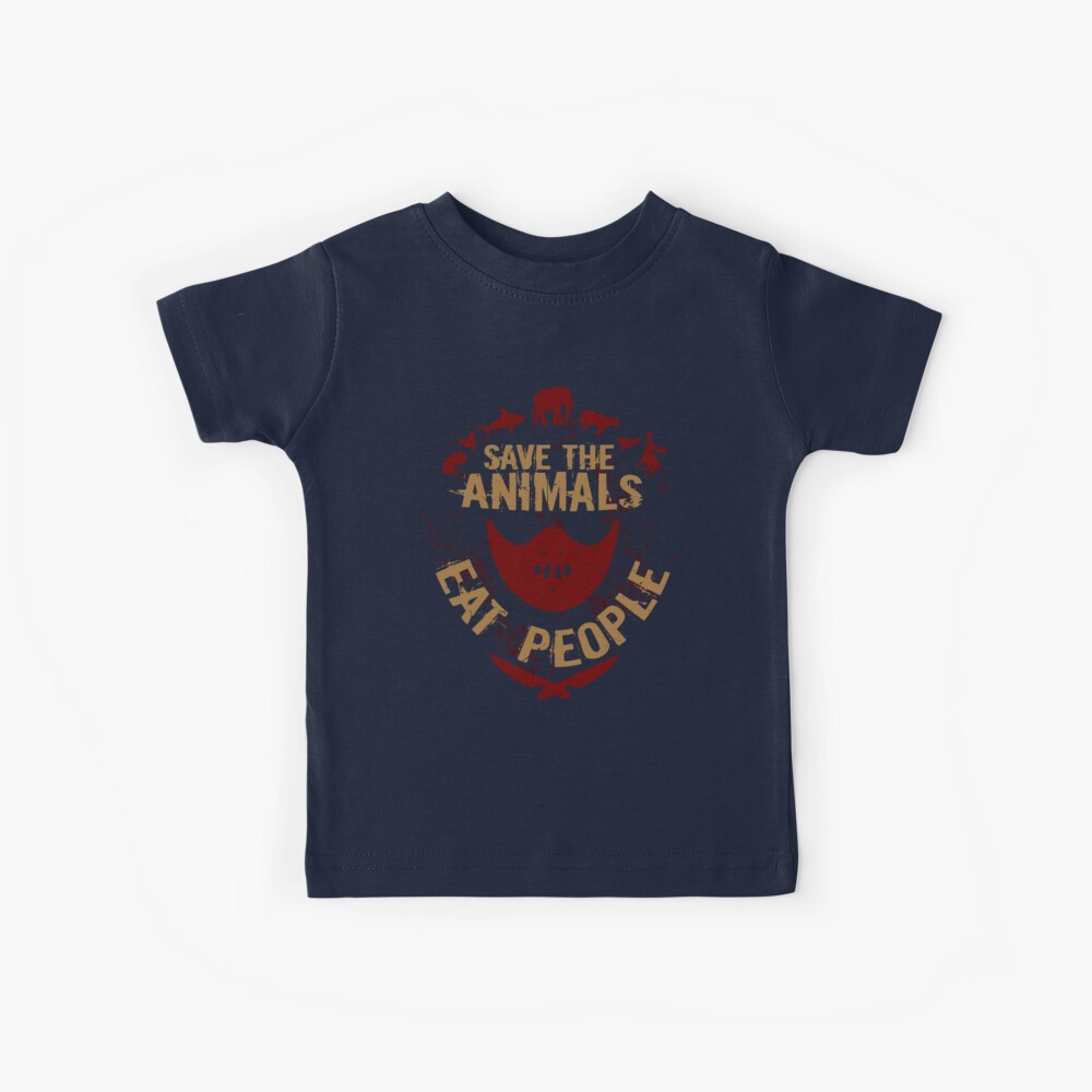 save the animals, EAT PEOPLE Kids T-Shirt
