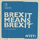 Brexit Tote by NYET! - a Brexit UK Border Farce