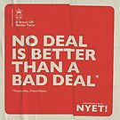No Deal Tote by NYET! - a Brexit UK Border Farce