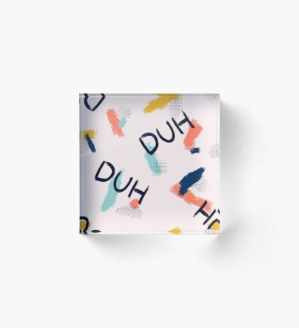DUH Pattern #redbubble #pattern Acrylic Block
