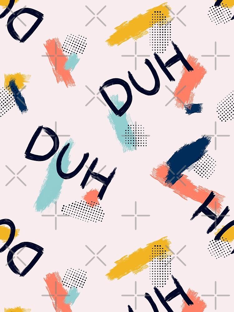DUH Pattern #redbubble #pattern by designdn