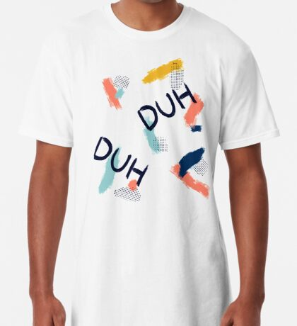 DUH Pattern #redbubble #pattern Long T-Shirt