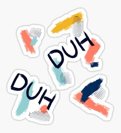 DUH Pattern #redbubble #pattern Glossy Sticker