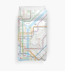New York City subway map Duvet Cover