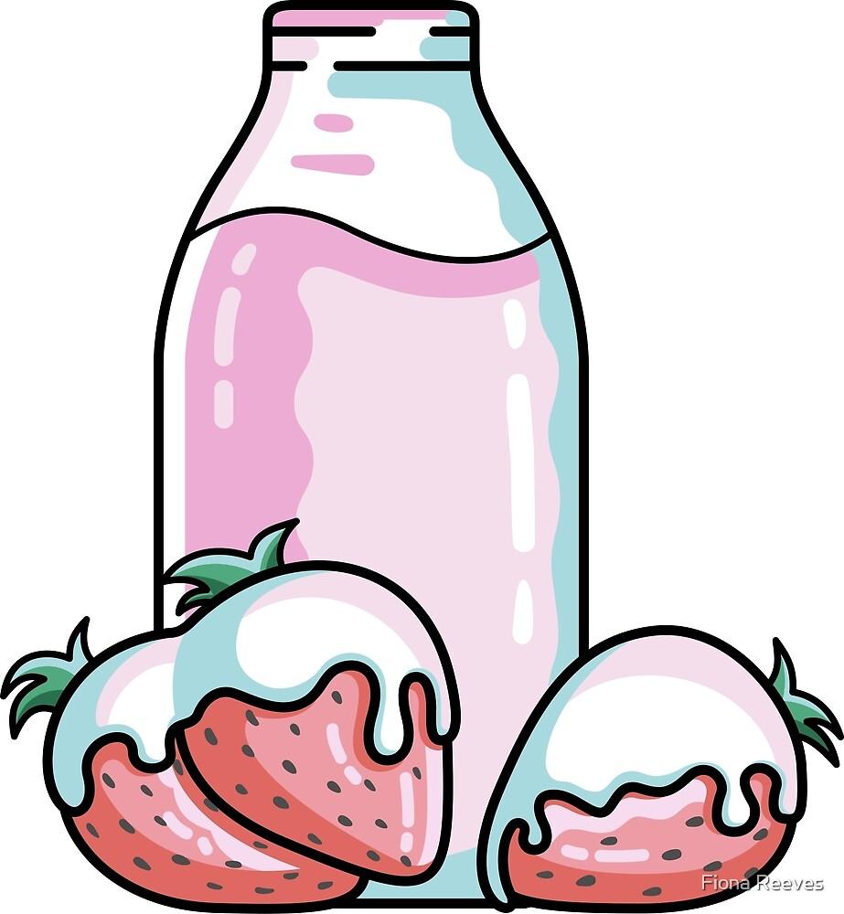 Cute Strawberry Milkshake by Fiona Reeves