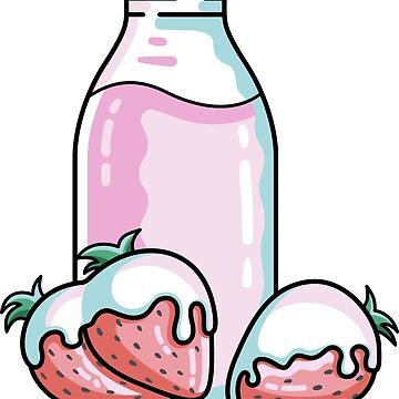 Cute Strawberry Milkshake by freeves