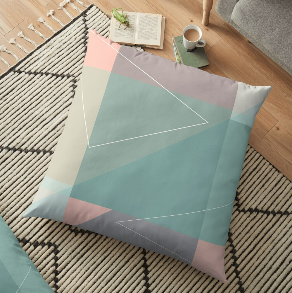 Geometric summer breeze Floor Pillow