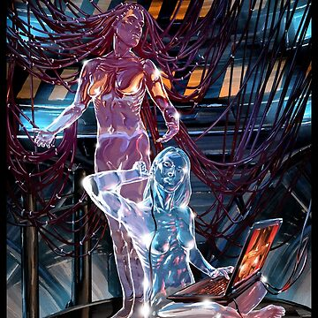 Glass Robot Illustration 008 by Sokoliwski