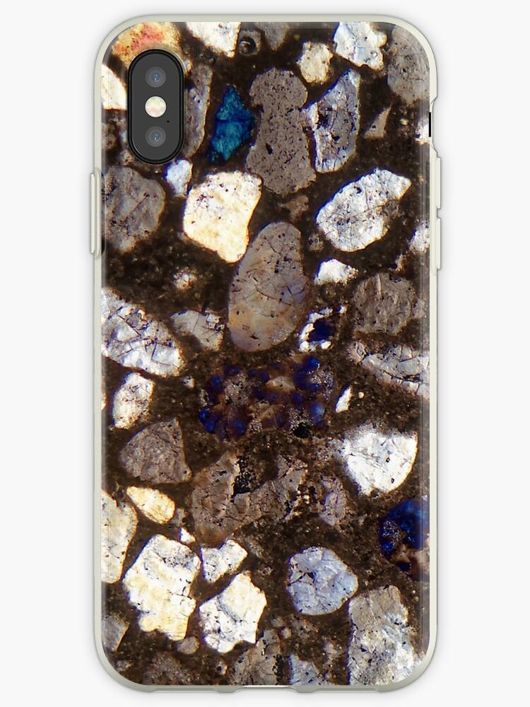 a40b07905ba Sección delgada de hormigón bajo un microscopio y en luz polarizada cruzada