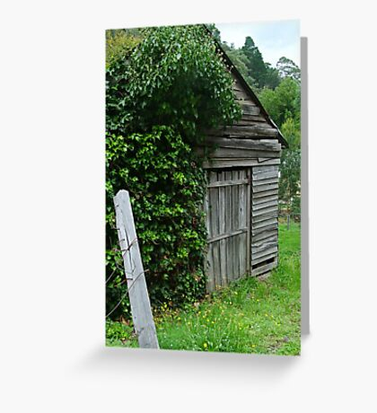 Old Shed,Main Road,Walhalla Greeting Card