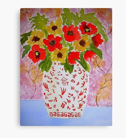 Chinoiserie Flowers Canvas Print