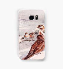 Winter Scene with Snow Buntings Samsung Galaxy Case/Skin