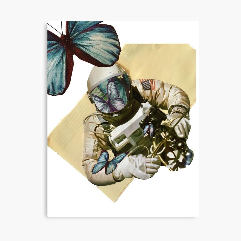 Schmetterlinge im Weltall Leinwanddruck