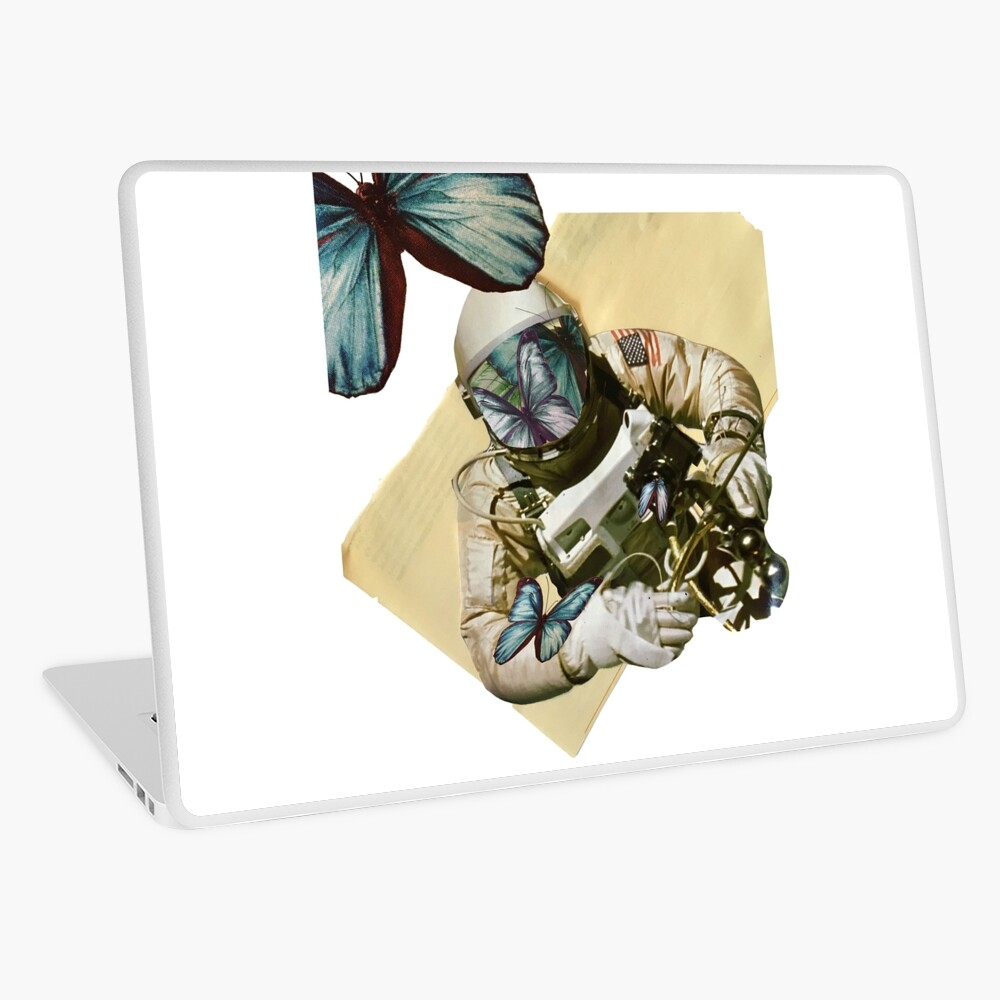 Schmetterlinge im Weltall Laptop Folie
