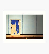 The peeling door Art Print