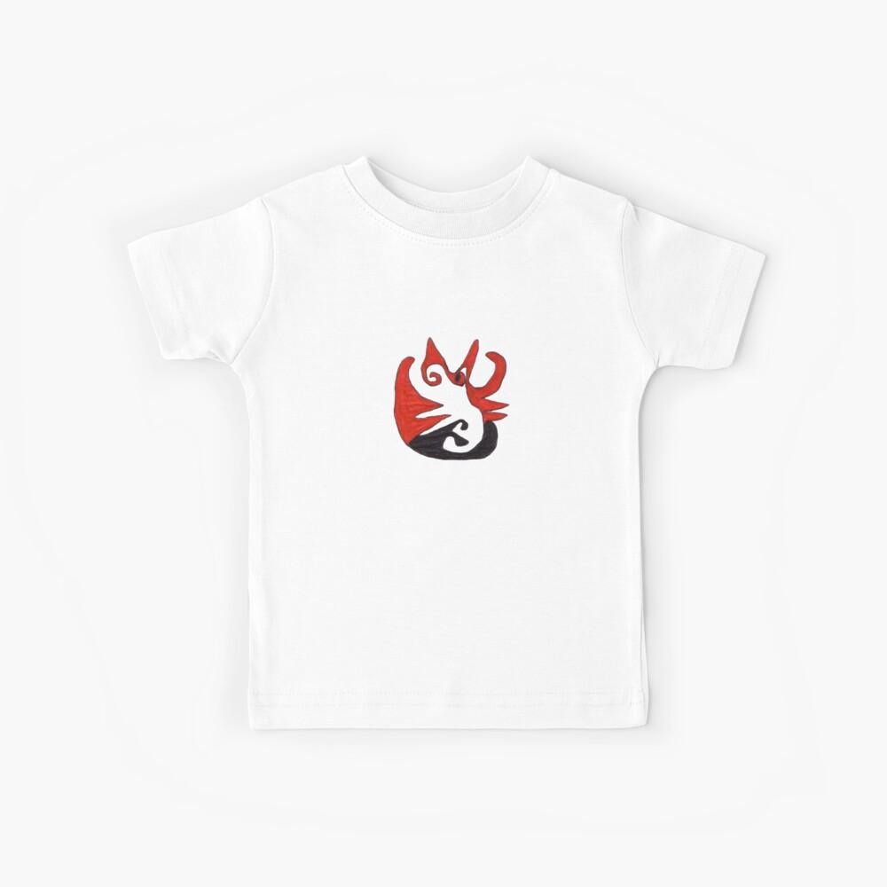 Red and Black Cat Camiseta para niños