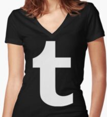 Tumblr Logo Women's Fitted V-Neck T-Shirt