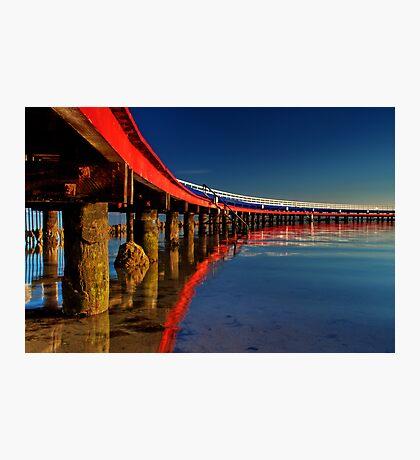 """Boardwalk Reflections"" Photographic Print"