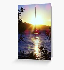 Sunset at Nelsons Bay, NSW Greeting Card