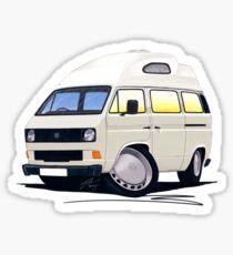 VW T25 / T3 (High Top) White Sticker